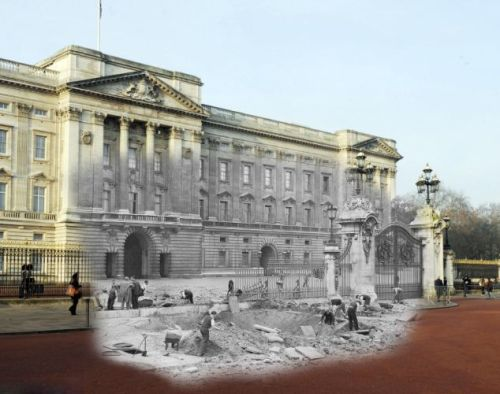 Buckingham Palace then&now.