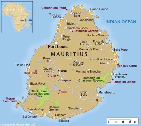 Mauritiuslocationontheindianoceanmap Know The World - Maurtius map