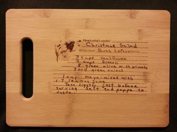 Custom engraved cutting board for LouAnn from 3dcarving on Etsy