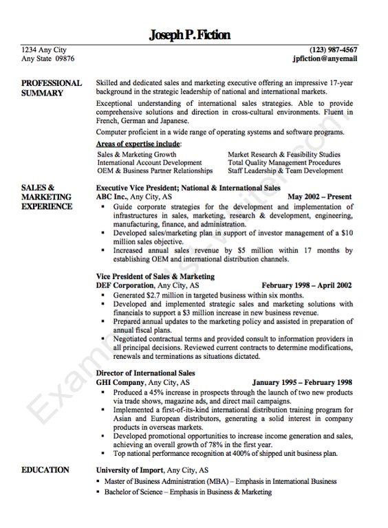 Example Vice President Resume CV - http\/\/resumesdesign - vice president resume