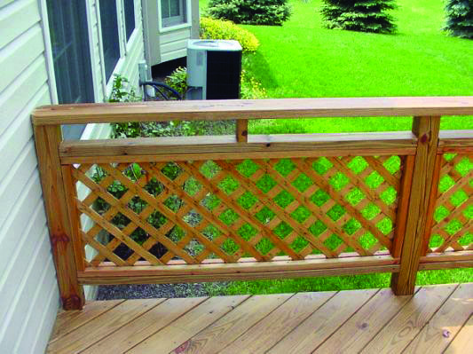Forms Of Attractive Deck Barriers Deck Railings Lattice Deck Patio Railing