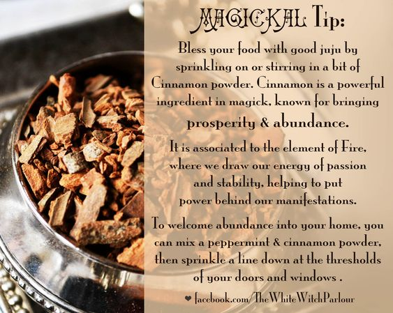 Kitchen Witch Food Correspondence