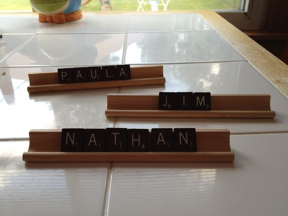 Game night place cards for guests.