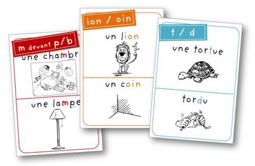 Cartes gratuites: orthographie