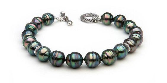 Unisex Tahitian & Diamond Pearl Bracelet  Retail Value: $2300  Our Price: $575