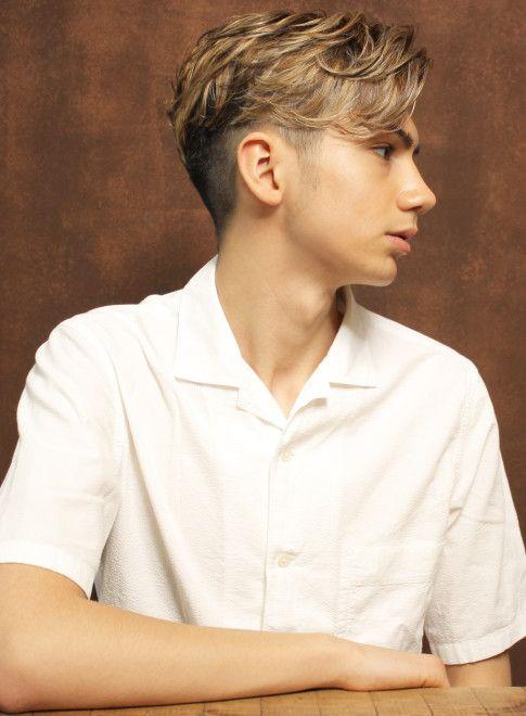 メンズ 外国人風ネオツーブロック Cyandeluccaの髪型 ヘアスタイル