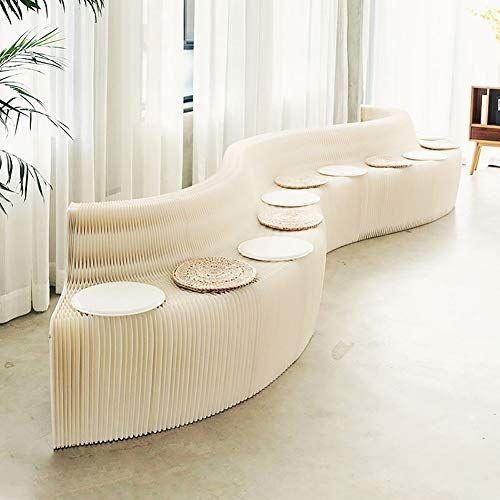 Fsjj R Folding Sofa White Kraft Paper Material Creative