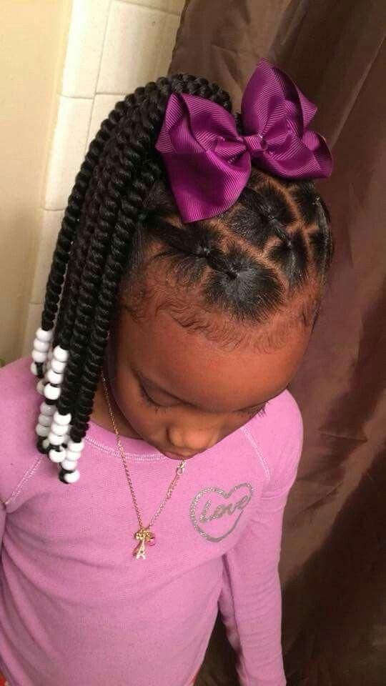 Beautiful Hairstyles For African American Children And Perfect Decorations On Their Hair 2018 Lil Girl Hairstyles Hair Styles Black Kids Hairstyles