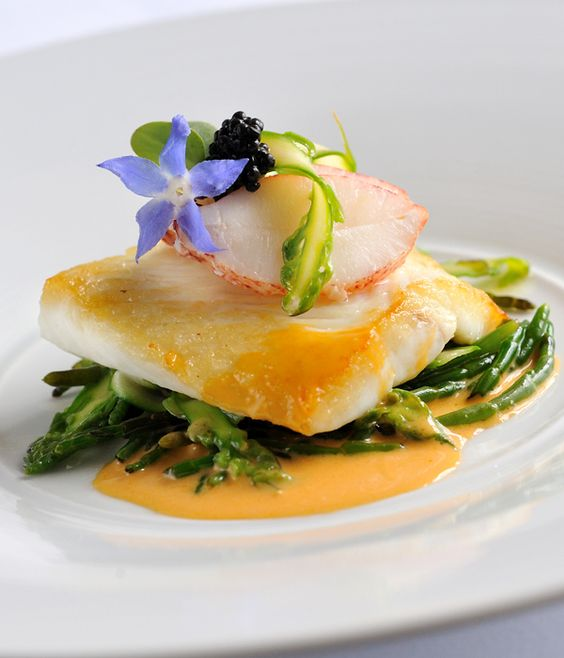 Lobsters sauces and fish on pinterest for Fine dining gourmet recipes