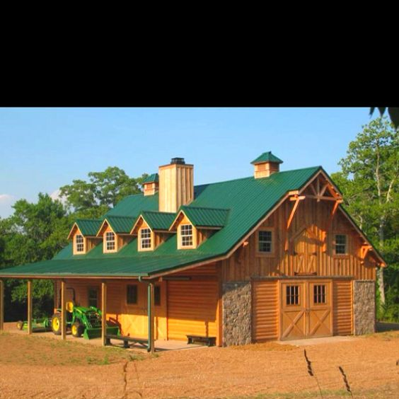 Barn with living quarters barns pinterest nice for Barns with living quarters above