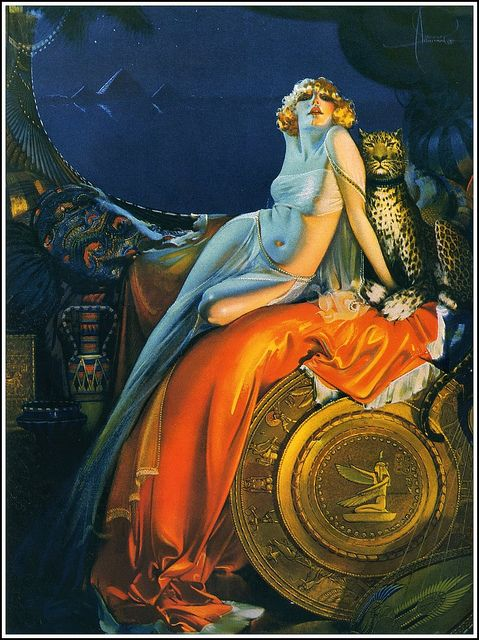 Rolf Armstrong (1889–1960) by Art & Vintage, via Flickr, lovely use of light