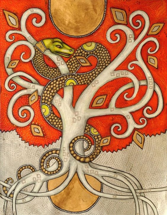 Serpent Tree / World Tree / Tree of Life Fine by LynnetteShelley,