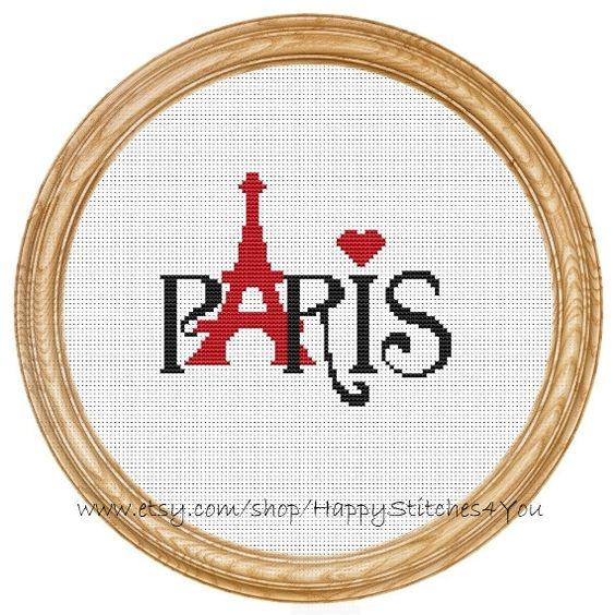 Cross Stitch Pattern PDF Paris DD0029 par HappyStitches4You sur Etsy