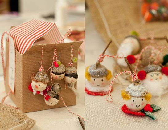 Acorn Elves: Christmas Creative Ideas, Christmas Crafts, Christmas Decor Ideas, Craft Party, Christmas Ideas, Craft Ideas, Crafty Ideas