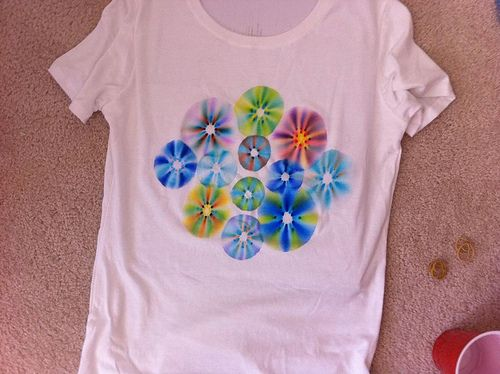 sharpie tie dye.  mine did not turn out so great.  think I needed thick not fine point sharpies
