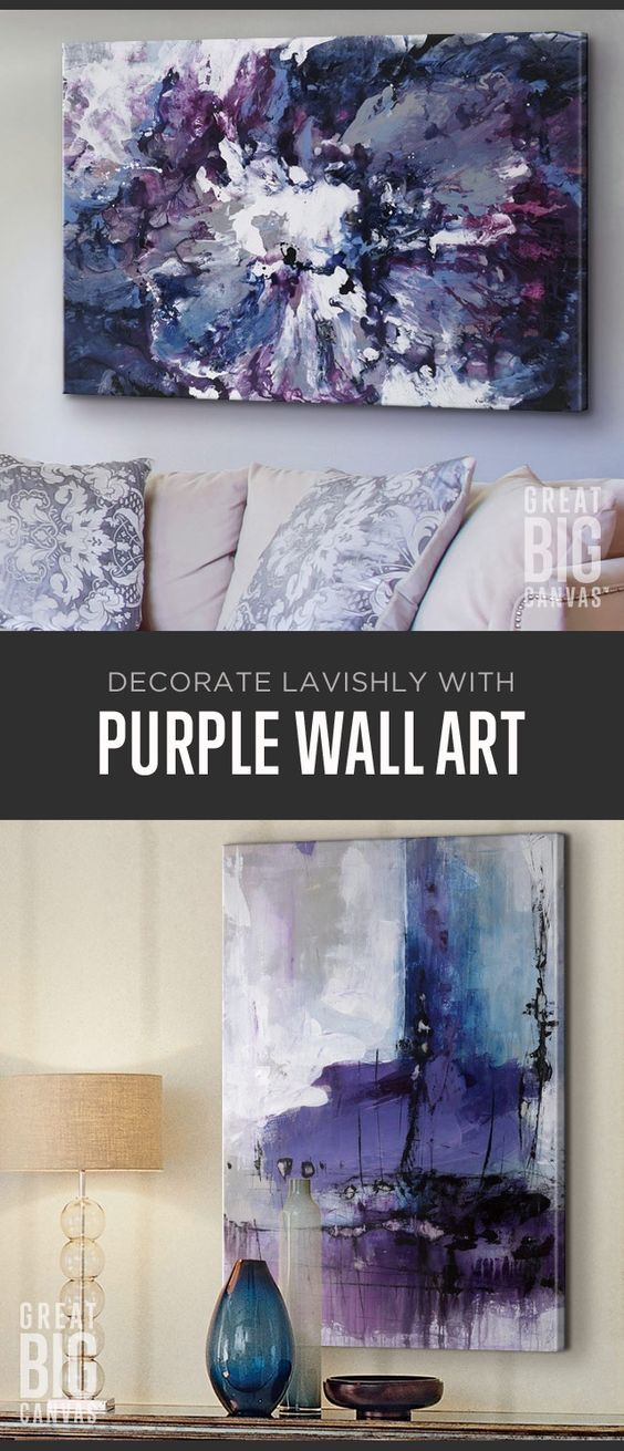 Rich and majestic, Purple lends your space mystery, spirituality, courage and royalty. Create the mood with deep shades that emanate. Explore our collection of best selling purple wall art at GreatBIGCanvas.com.
