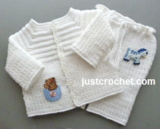 Free baby crochet pattern for boys christening outfit http://www.justcrochet.com/boys-christening-usa.html #justcrochet:
