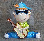"12"" Rock N Roll Boy Piggy Bank"