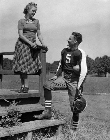 Vintage school day crushes. #vintage #1940s #school #teenagers