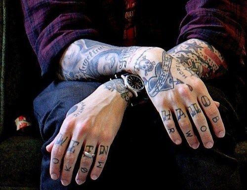 Frank Iero, hands, tattoos