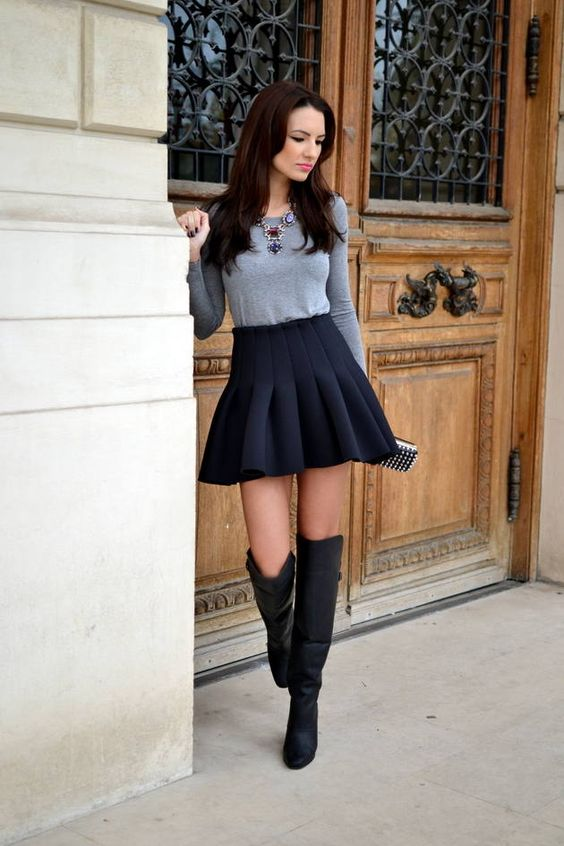 Sweater and Skirt Style Combinations