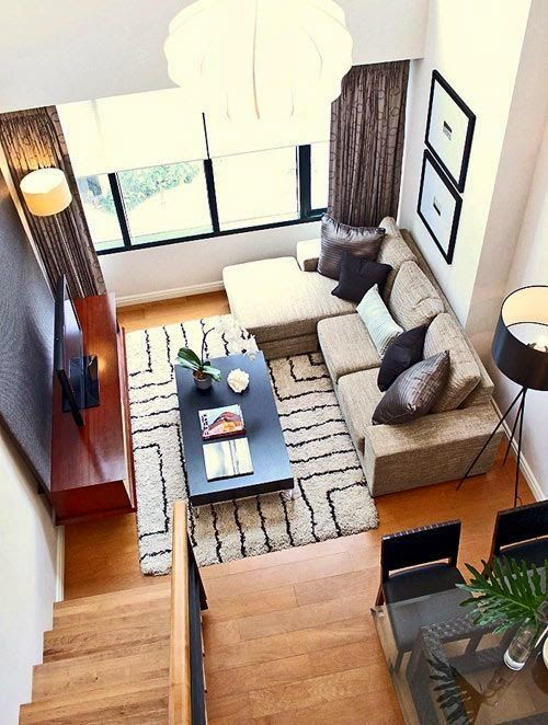 30 ideas de decoración de salas pequeñas modernas con fotos: