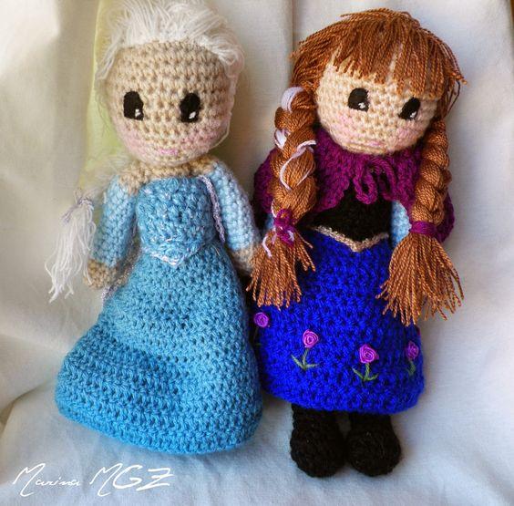 Amigurumi Patron De Elsa : Zita y Bolita: Patron de Elsa y Ana (Frozen) amigurumi ...