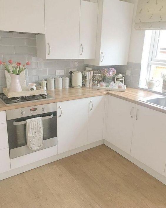 48 sorprendentes ideas de decoración de cocinas pequeñas y decoración 6