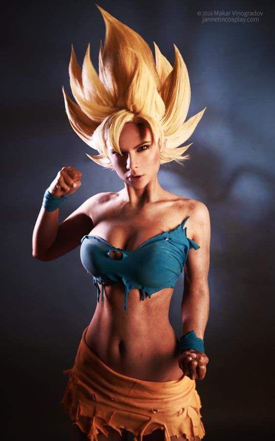 Goddess of Cosplay: gorgeous Jannet Incosplay Vinogradova is an amazing Goku Super Saiyan female version from Dragon Ball.  Photo by Makar Vinogradov.