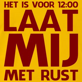 Shirt voor 'ochtendmensen' | Humorshirts.nl | De allerleukste, gekke, funny T-shirts voor de zomer!