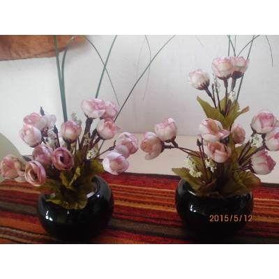 Adorno, Centro De Mesa Base Ceramica, Ramo De Pimpollos Tela - $ 250,00 en MercadoLibre