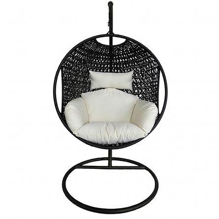 Bentley garden black rattan pod hanging chair, £225, tesco.com.