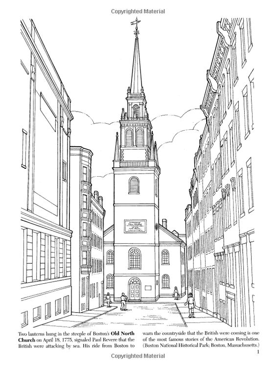u s landmarks coloring pages - photo #22