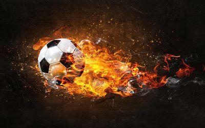 Soccer Ball Water And Fire Backdrop Soccer Wall Art Soccer Ball Volleyball Wallpaper