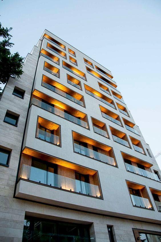 واجهات عمارات سكنية وادارية For Architects Facade Architecture Design Residential Building Design Facade Architecture