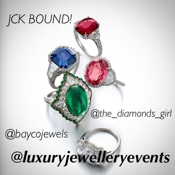 Next event? #JCK! Get ready to see the most precious stones in the world as @the_diamonds_girl takes over @baycojewels Instagram account next Friday live from Las Vegas. Follow @luxuryjewelleryevents and @champagnegem for exclusive coverage. Follow @baycojewels to enjoy the account takeover!