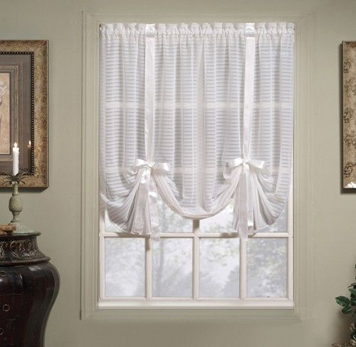 sheer tie up curtain | Curtain & Bath Outlet - Silhouette Stripe ...