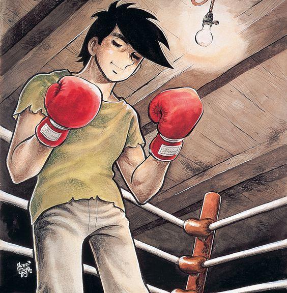 ボクシンググローブをはめてリングの中で目をつむっているあしたのジョーの壁紙