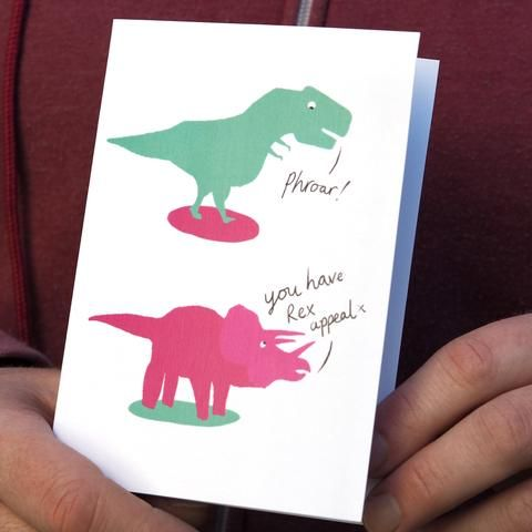 Funny Dinosaur Valentine Card Dino Puns For Your Valentine Quirky And Fun Our Dino Love Valentine Dinosaur Valentines Valentines Puns Unique Greeting Cards