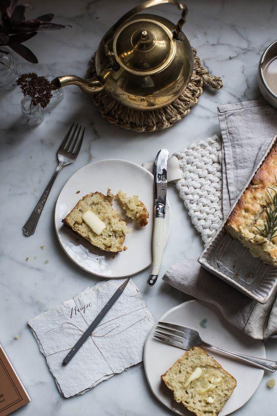 Local Milk | apple & rosemary buttermilk quickbread | on coming home: