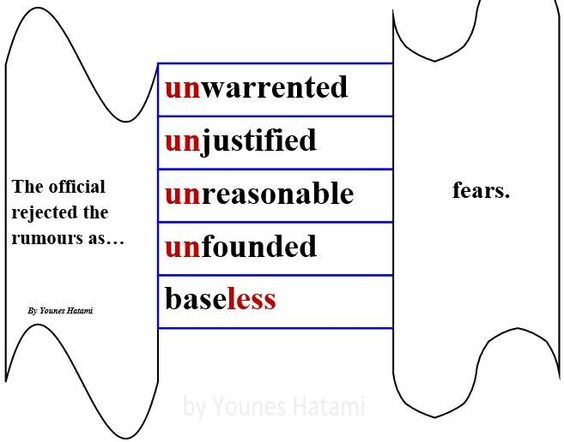 unwarranted, unjustified, unreasonable, unfounded, baseless fears.