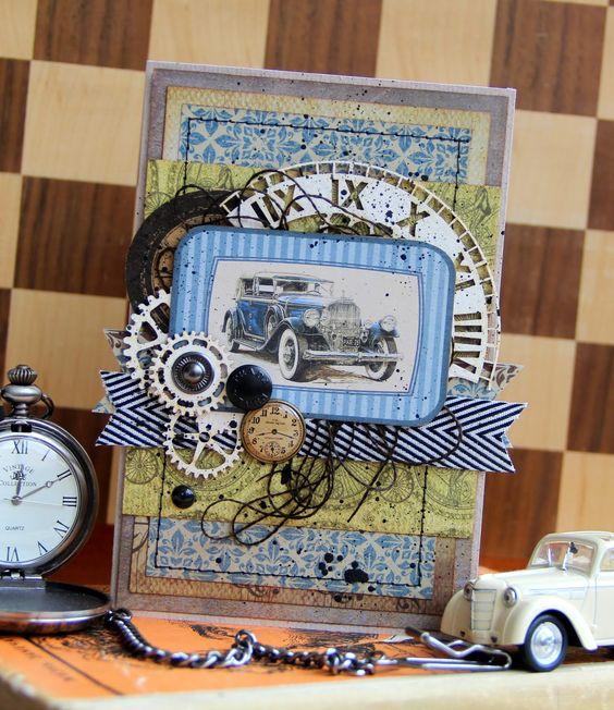 card for men car classi cars gentlemen gear gears clock Творить красоту - приносить радость себе и людям...