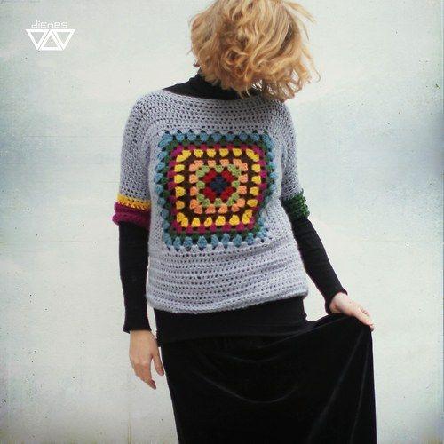 Granny square sweater!