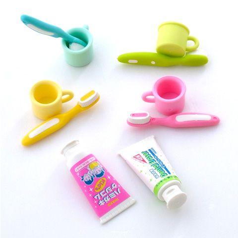雑貨屋 Capriccio.to / けしごむコレクション ハミガキ・コップ・歯磨き粉チューブ