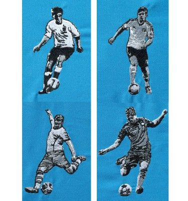 Fußballer Stickdateien by Gabrielles Embroidery