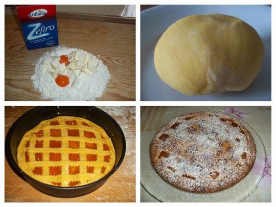 """Crostata di marmellata di albicocche di Lidia Biuso da """" Il mondo di Lidy"""". #crostata #ricetta #marmellata #albicocche #zucchero #Zefiro #eridania #eridanialovers"""