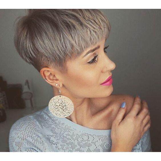 New grey short hair