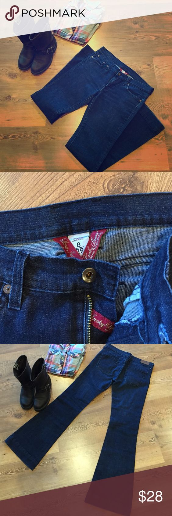 Lucky Brand Blue Jeans size 8/29 Lucky Brand Blue Jeans Size 29/8 Lucky Brand Jeans Flare & Wide Leg