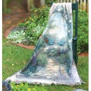 """Lena Liu Morning Butterfly Tapestry Throw  """"Come with me to a quiet place"""" Mark 6:31"""