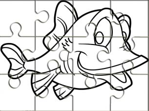 Fish Outline Printable Puzzles | Crafts For Kids | Pinterest ...